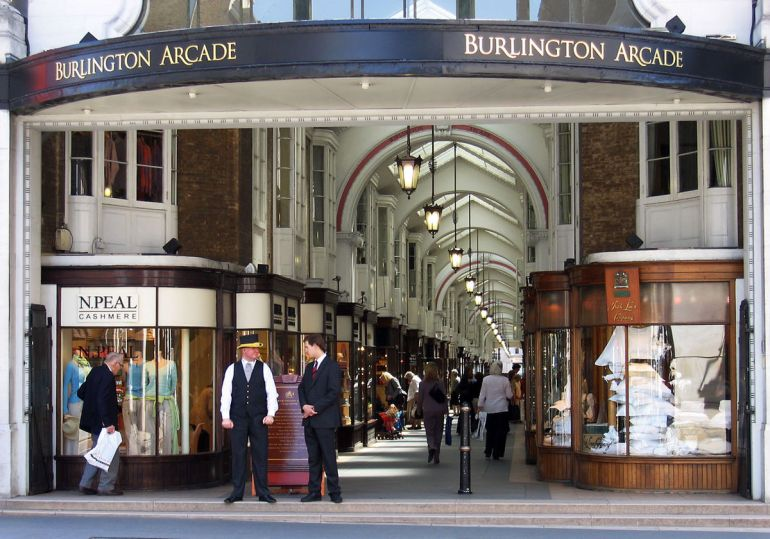 cash Burlington_Arcade,_north_entrance